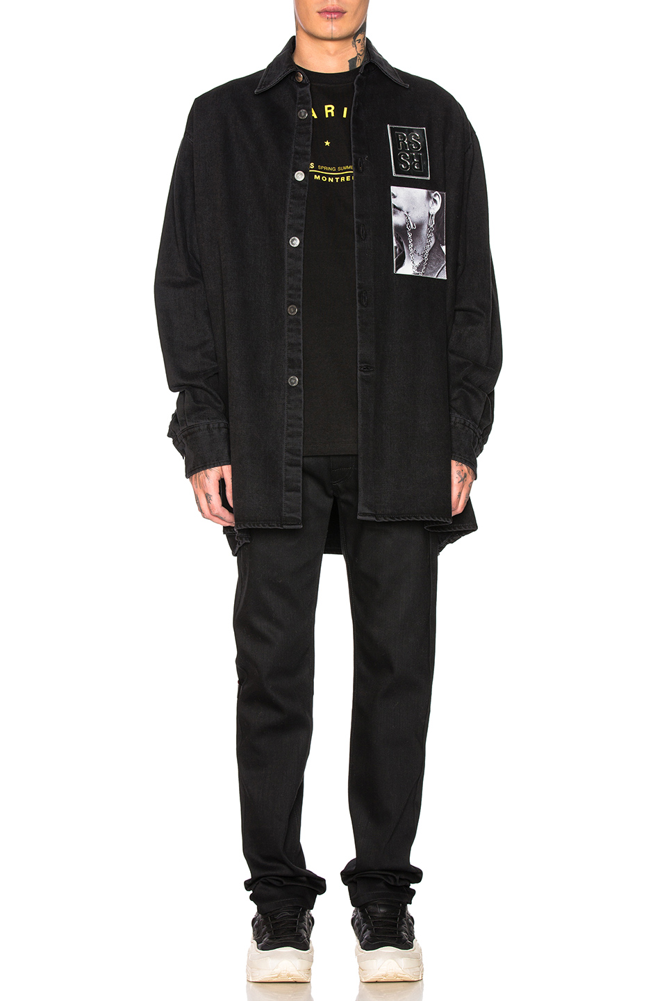Raf Simons Tape & Patch Denim Jeans