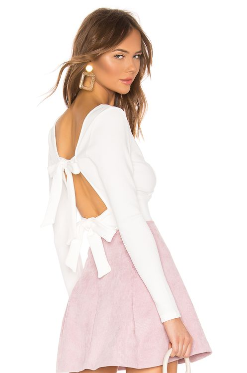 About Us Penny Tie Back Top