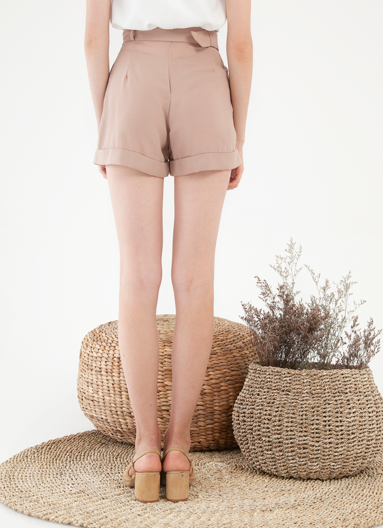 CLOTH INC Dorene Shorts - Dusty Rose