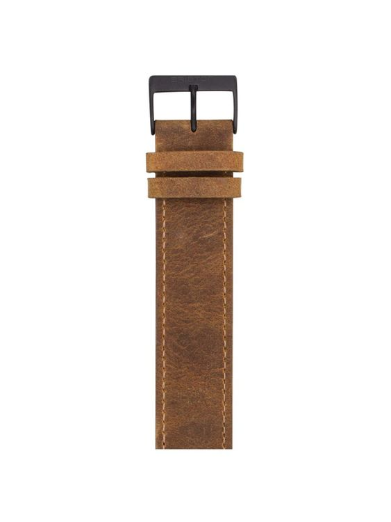 BRISTON Briston Vintage Leather Strap Brown PVD 20mm