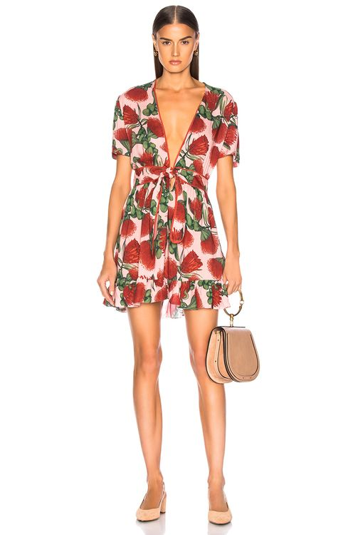 Adriana Degreas Fiore Short Dress With Knot Detail