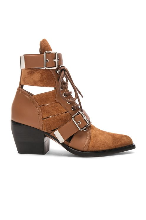 Chloé Lace Up Booties