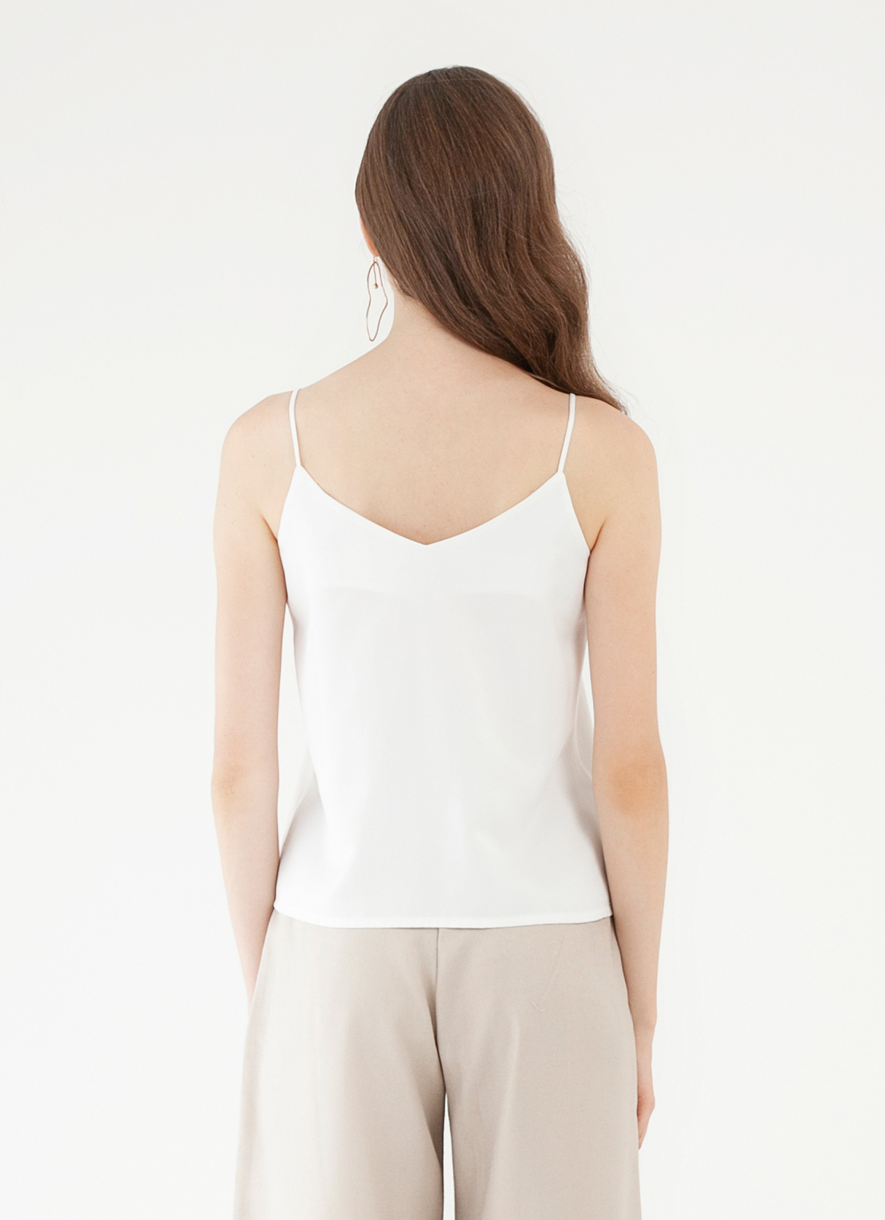 CLOTH INC Multi Strap Tank Top - White