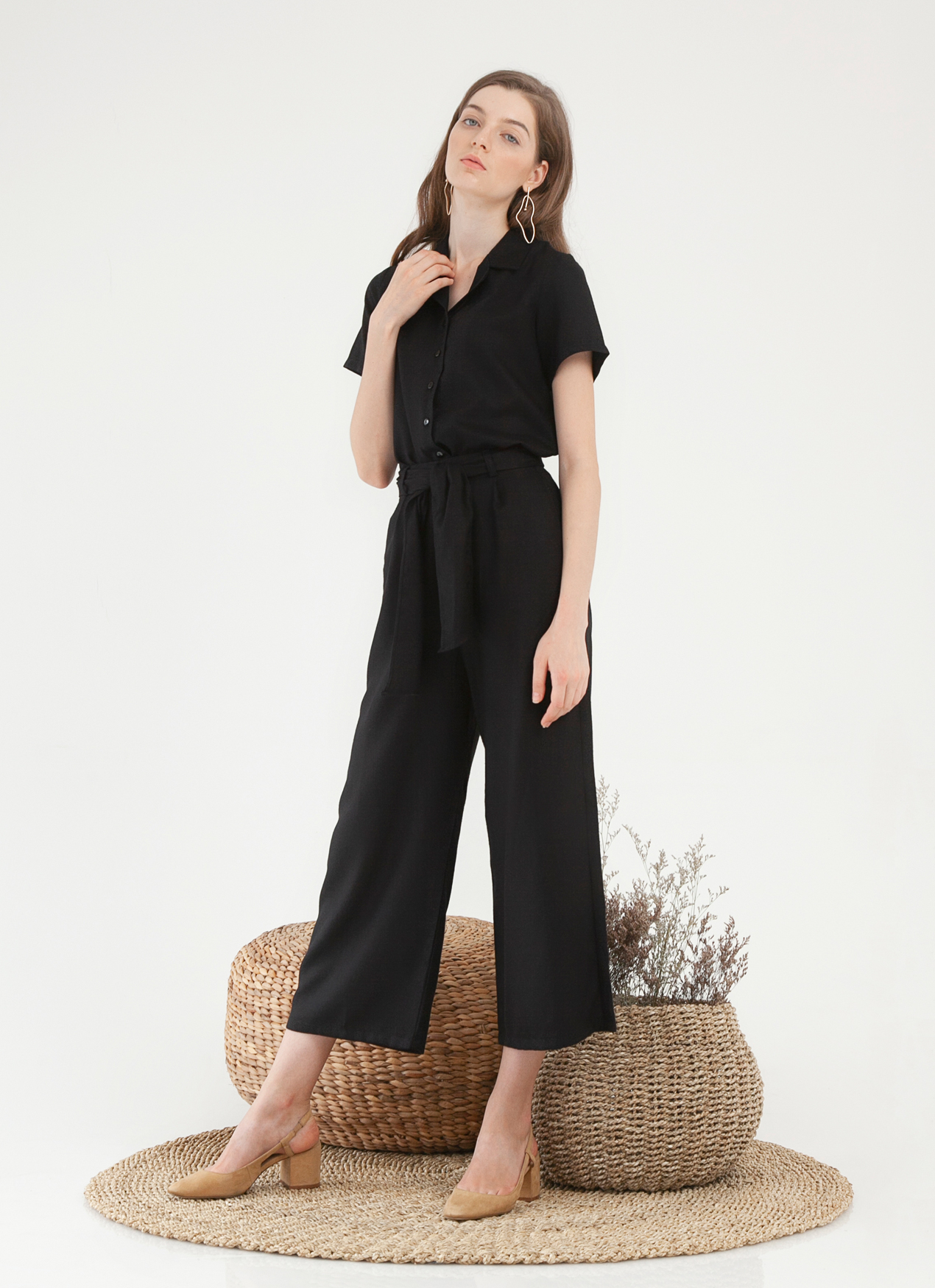 CLOTH INC Leica Culottes - Black
