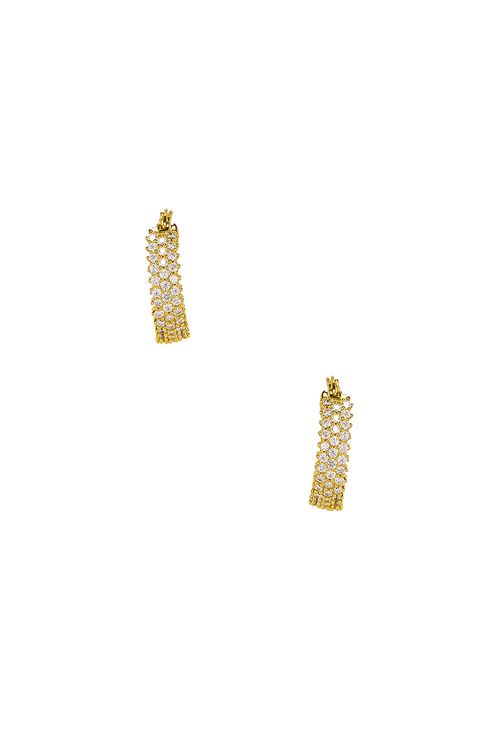 The M Jewelers NY The Three Row Pave Hoops