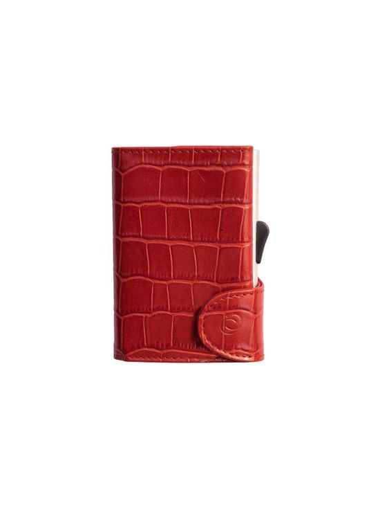 C-Secure C-Secure Croco Leather RFID Wallet Red