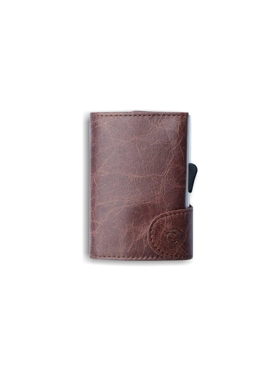C-Secure C-Secure Italian Leather RFID Wallet Brown