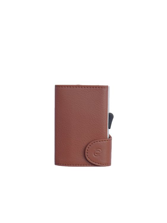 C-Secure C-Secure Italian Leather RFID Wallet Bruciato