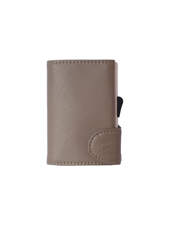 C-Secure C-Secure Saffiano Leather RFID Wallet Grey