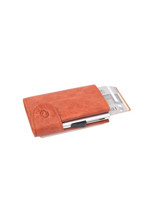 C-Secure C-Secure Italian Leather RFID Wallet Cognac
