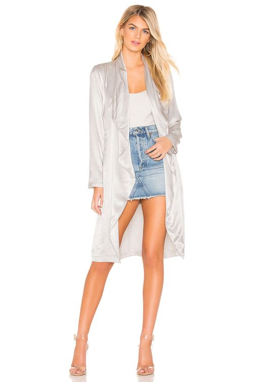 cupcakes and cashmere Yoko Drape Front Trench