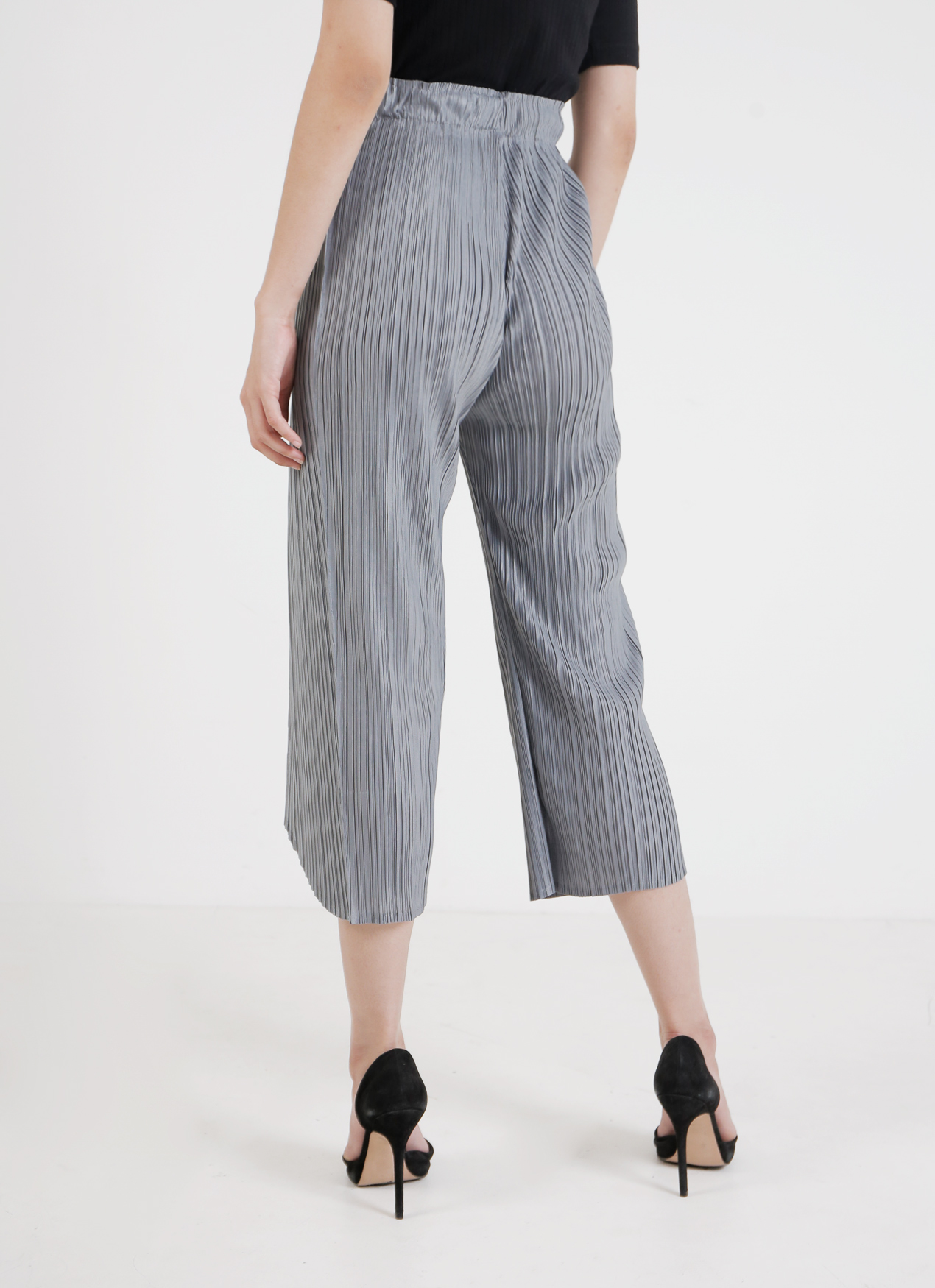 BOWN Nadia Pleated Pants - Gray