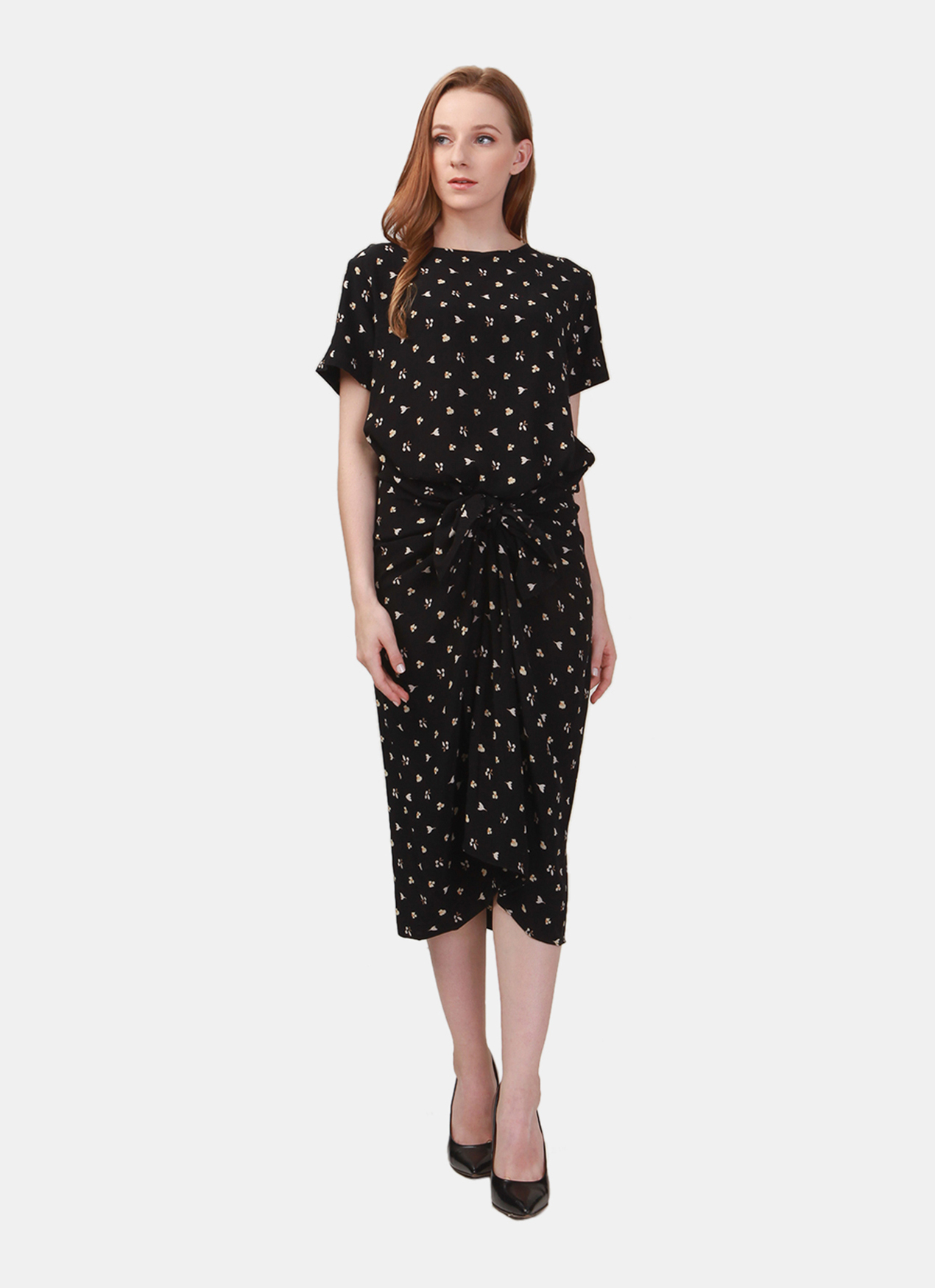 a4ffd0bee03b Buy Original Ree Tie Up Midi Dress - Black at Indonesia | BOBOBOBO