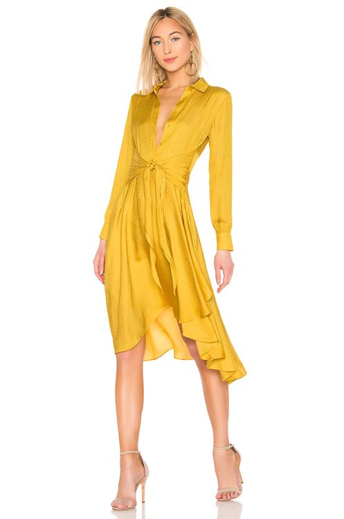 1. STATE Tie Front Shirt Dress