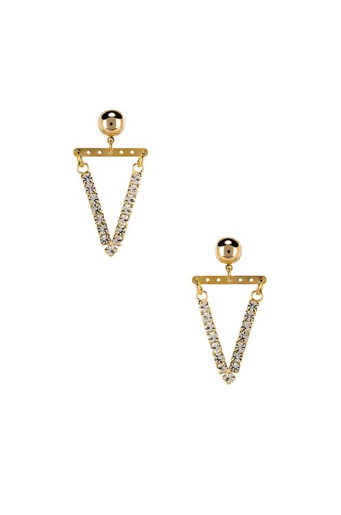 LARUICCI Pave Triangle Earrings