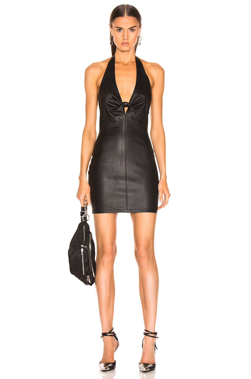 9f1806300a9 Buy Original T by Alexander Wang Leather Halter Dress at Indonesia ...