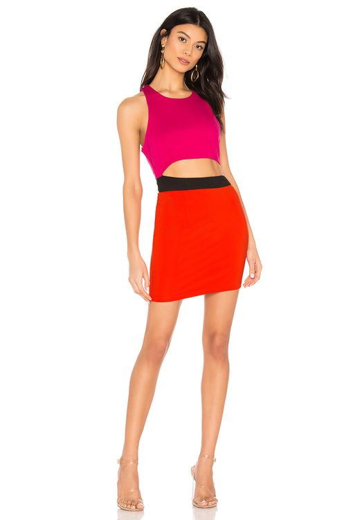 by the way. Mishel Color Block Dress