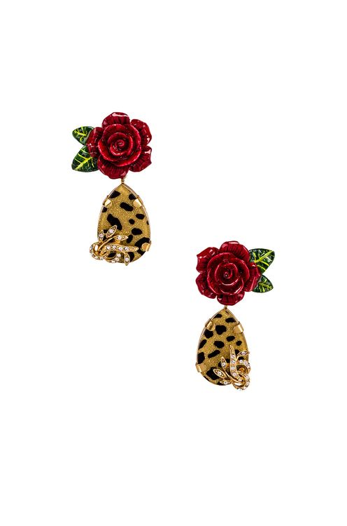 Dolce & Gabbana Leo & Roses Earrings