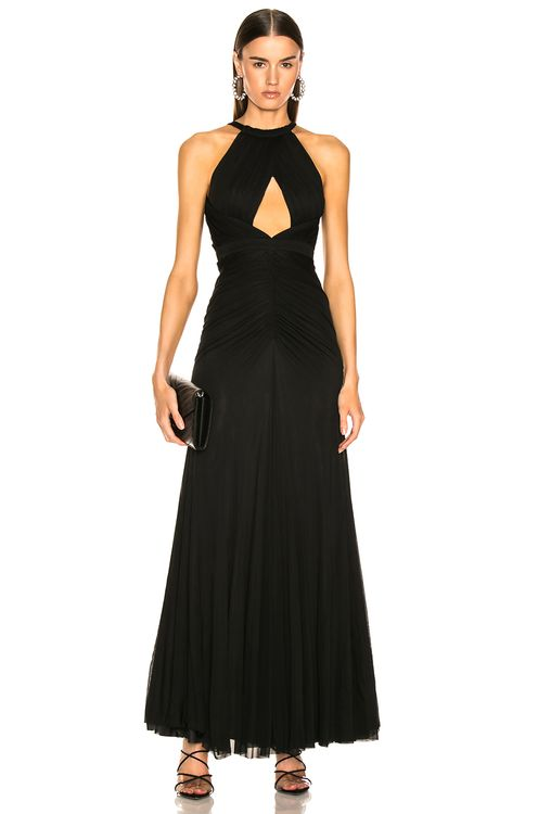 Alexander McQueen Halter Evening Dress