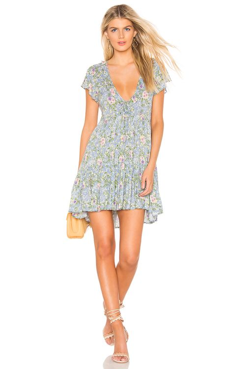 AUGUSTE Ophelia Matilda Babydoll Mini Dress