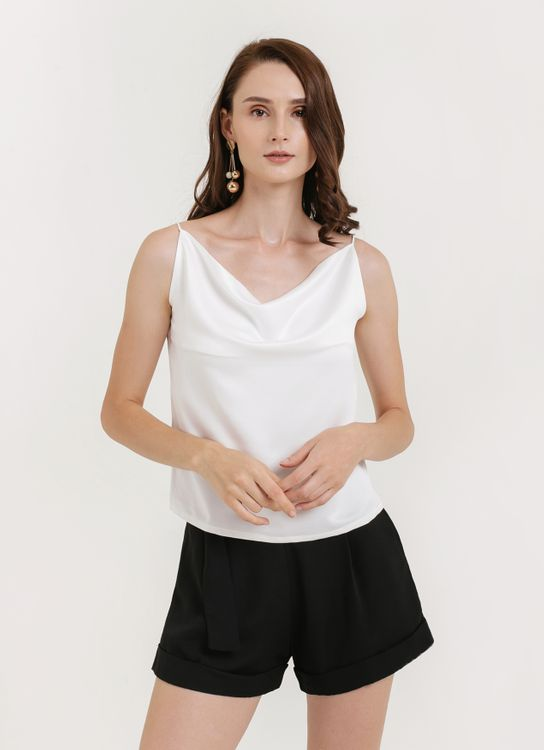 CLOTH INC Drapery Tank Top - White