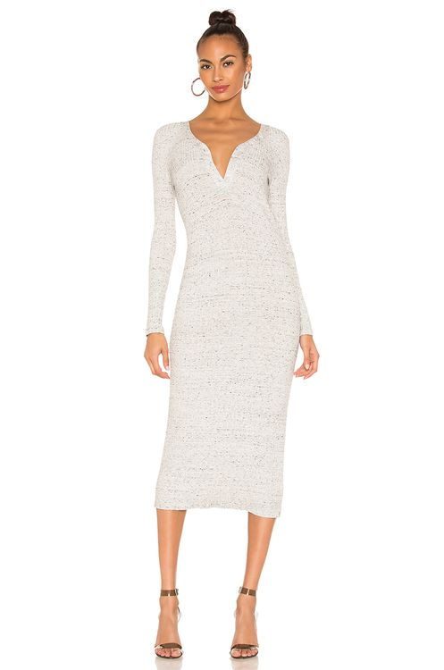 David Lerner Button Henley Midi Dress