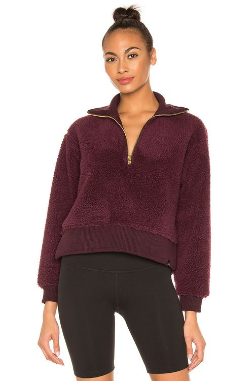 VARLEY Daphne Faux Fur Pullover