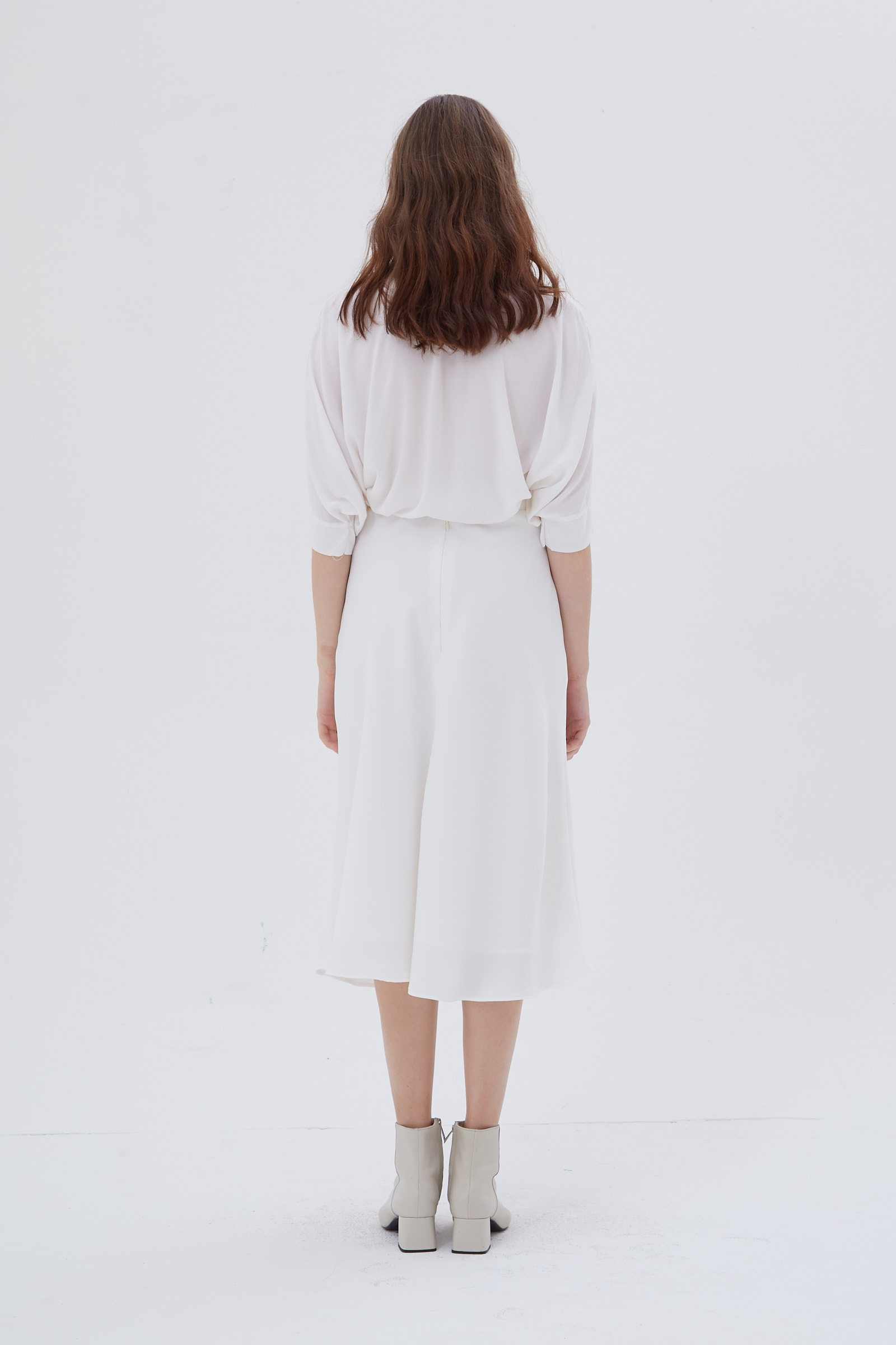 Shopatvelvet Arch Skirt White