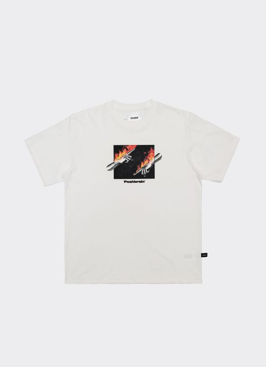 POSHBRAIN Sora Fire T-Shirt - White