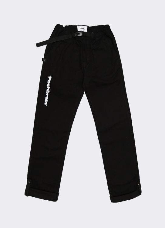 POSHBRAIN Relaxed Mind Long Pants - Black