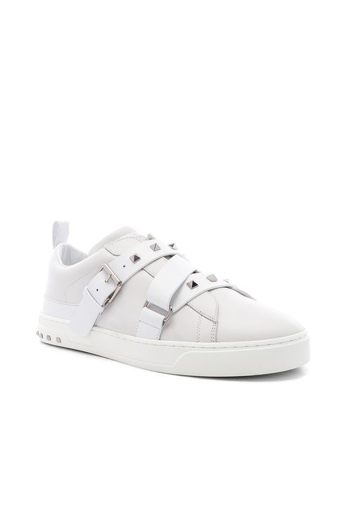 Valentino Studded Leather Strap Sneaker