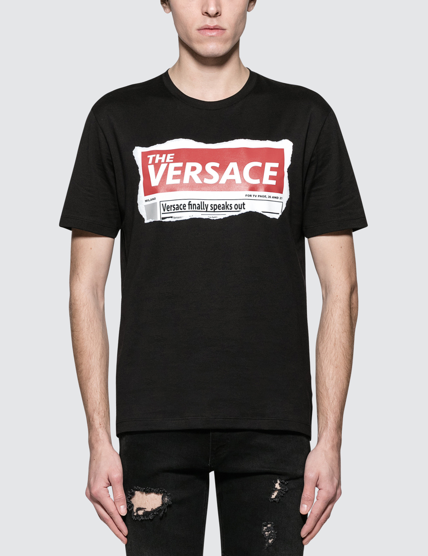 9672572e Buy Original Versace Box Logo S/S T-Shirt at Indonesia | BOBOBOBO