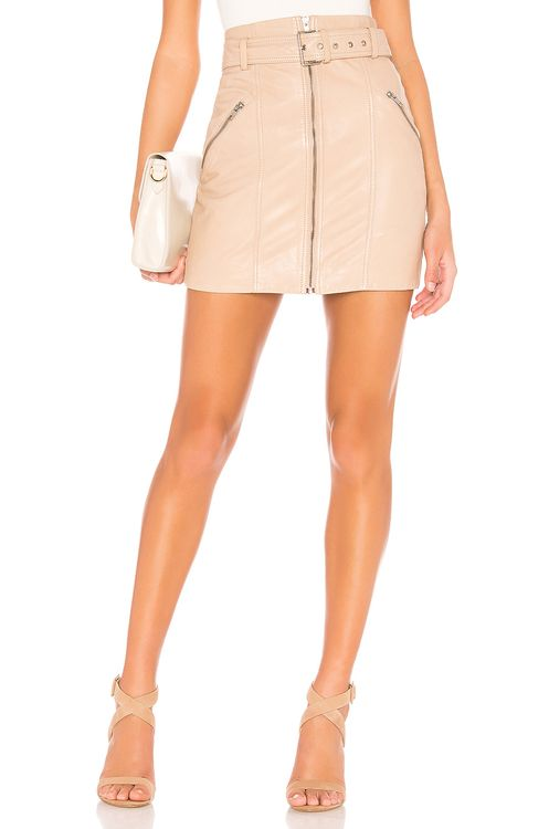Bardot Mini Leather Skirt