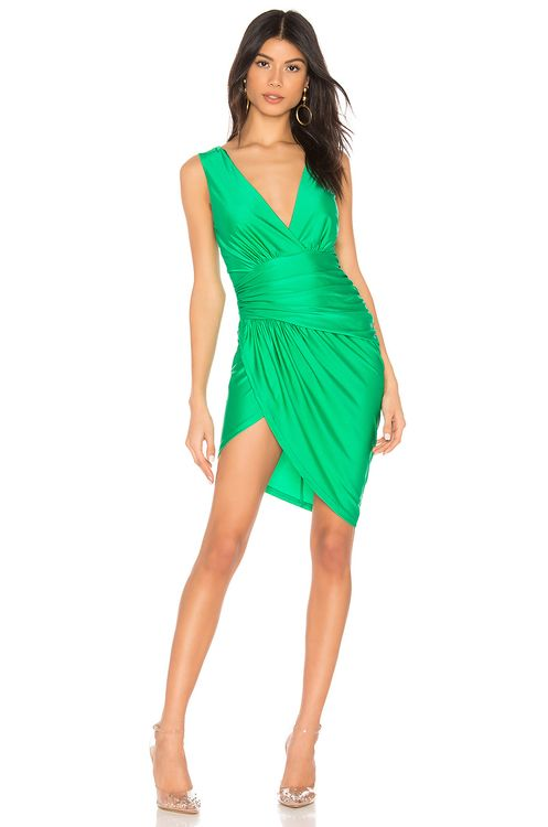 super down Roa Ruched Wrap Dress