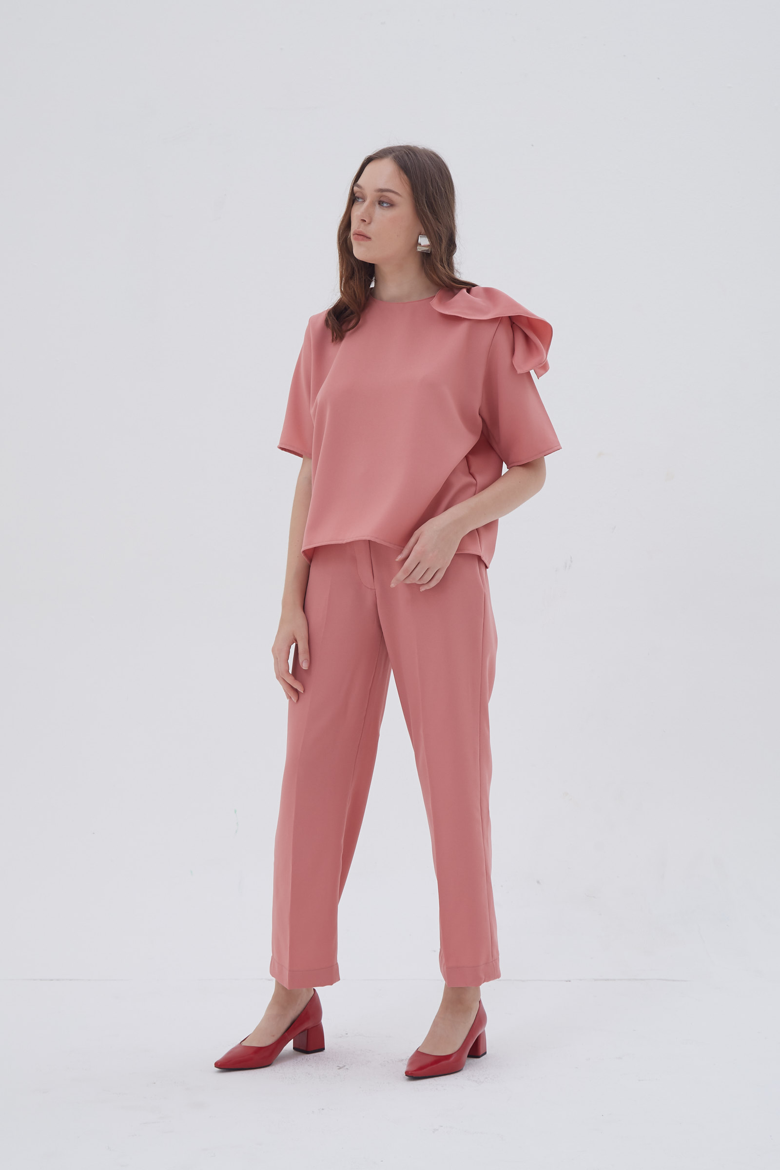 Shopatvelvet Petal Top Pink
