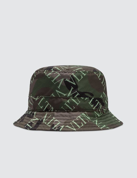 e253a8473a1 Valentino All Over Logo Bucket Hat
