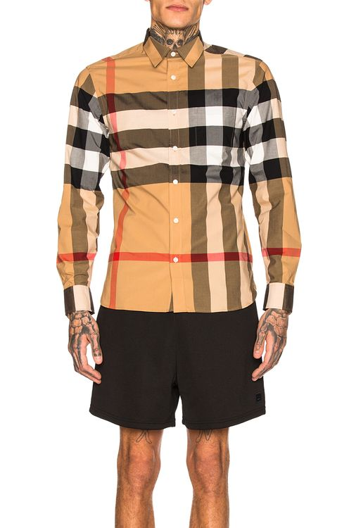 Burberry Giant Exploded Stretch Shirt