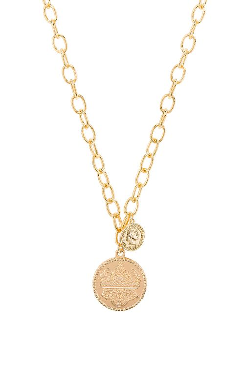 Natalie B Jewelry Seine Double Coin Necklace