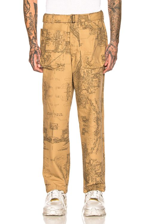 Reese Cooper Wide Leg Patch Pocket Trousers