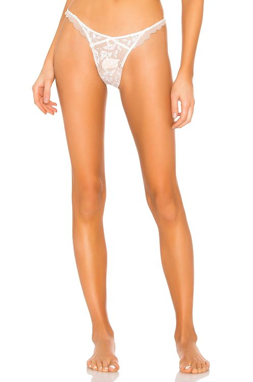 For Love & Lemons Mariette Embroidery Thong