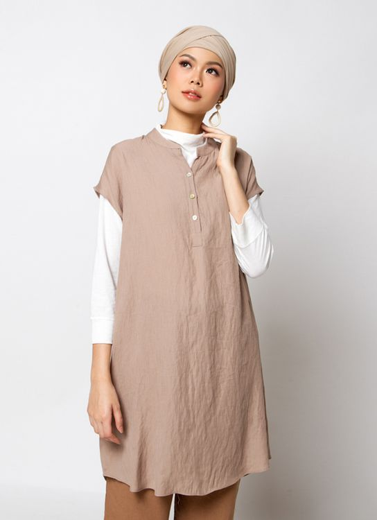 Sayee Sleeveless Tunic - Beige