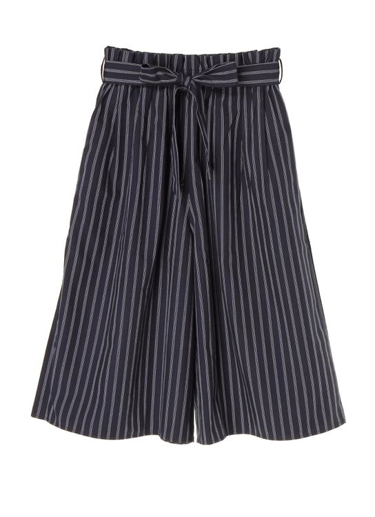 American Holic by Stripe Japan Stripes Zoella Stripe Pants - Navy Stripes