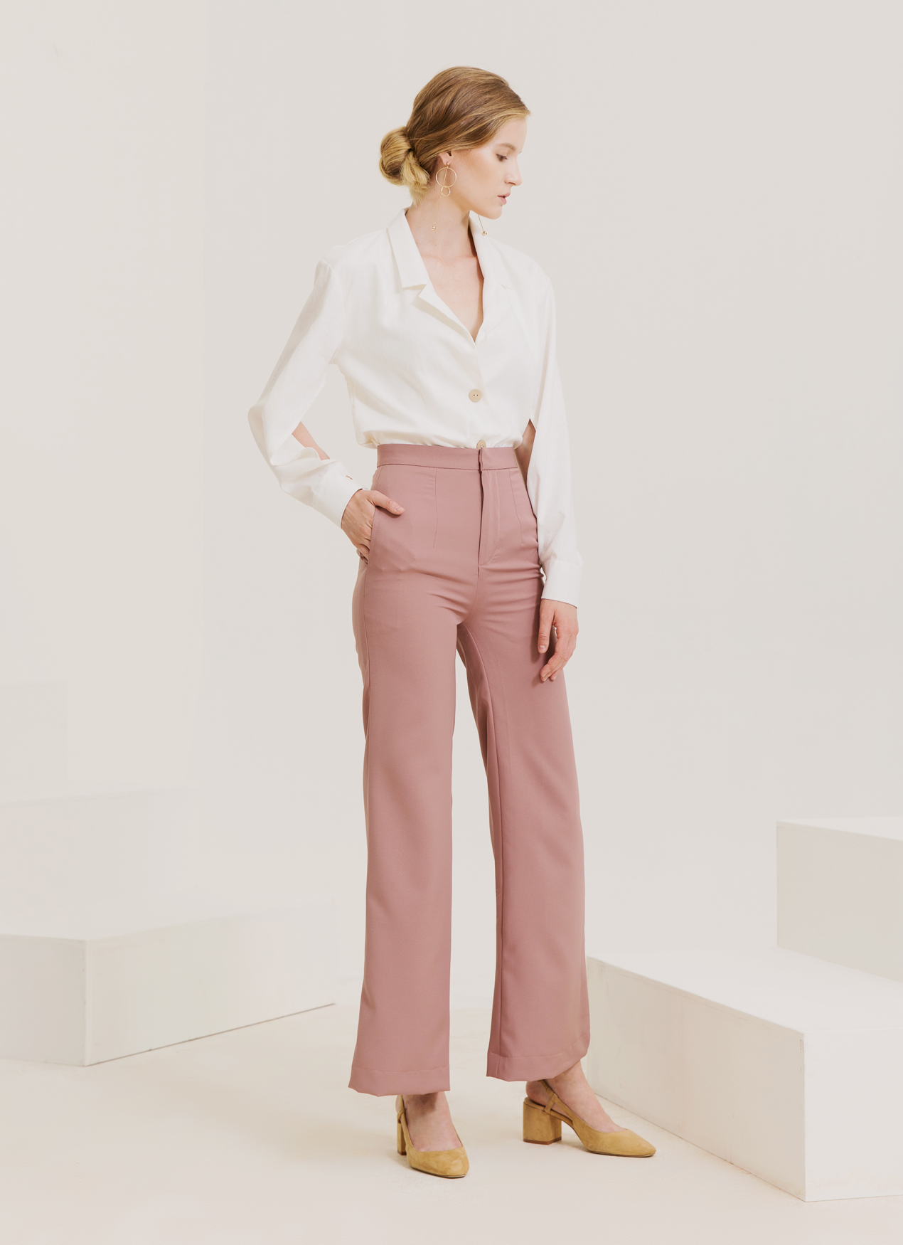 Kuro Manta Pants - Dusty Pink