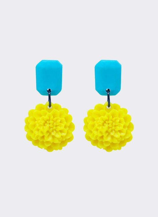 Mita Jewelry Sandy Earrings - Yellow