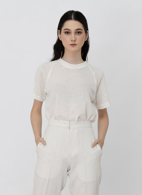 Day and Night Indah Top - White