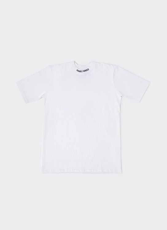 Humble Minded Collar Logo Tee - White