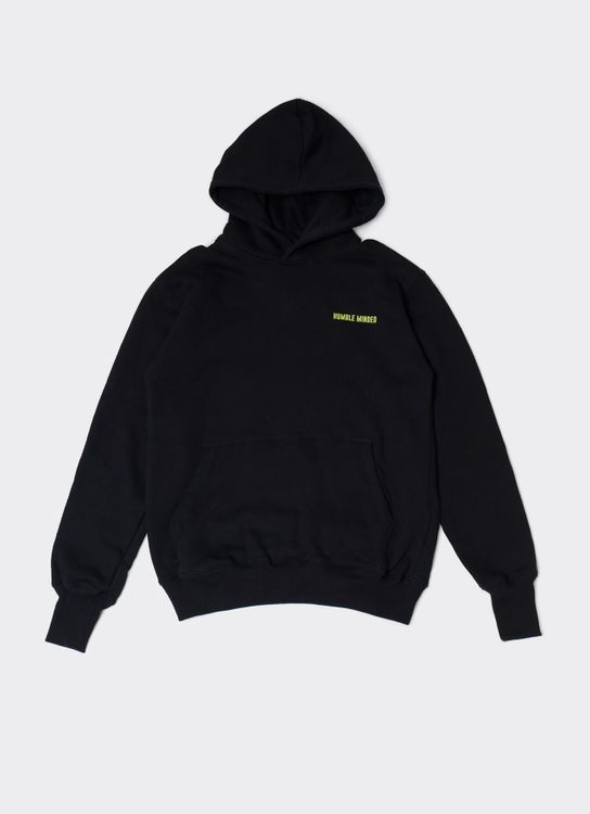 Humble Minded Long Cuffed Hoodie - Black