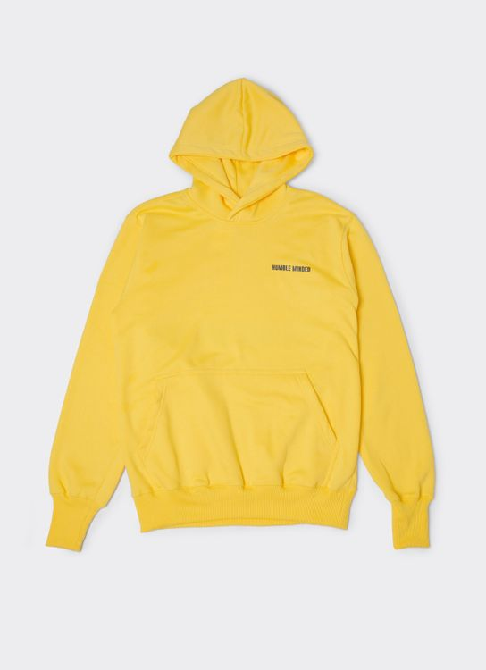 Humble Minded Long Cuffed Hoodie - Yellow