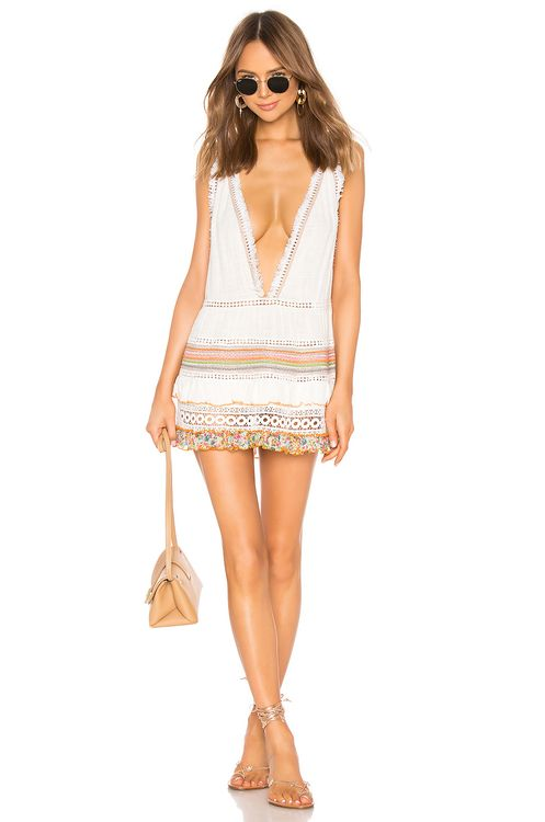 CHIO Multi Macrame and Fringe Dress