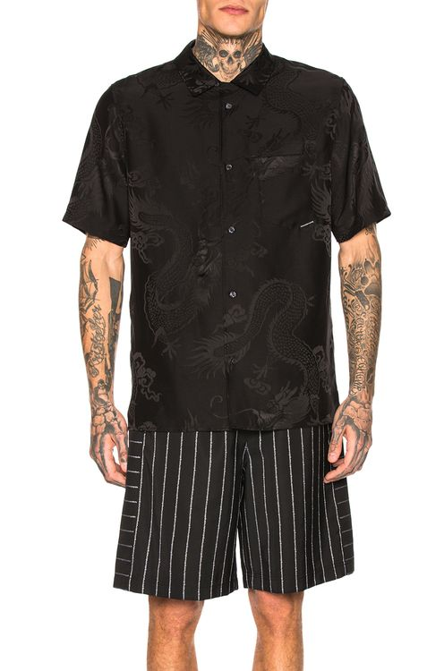 Alexander Wang Black Dragon Jacquard Shirt